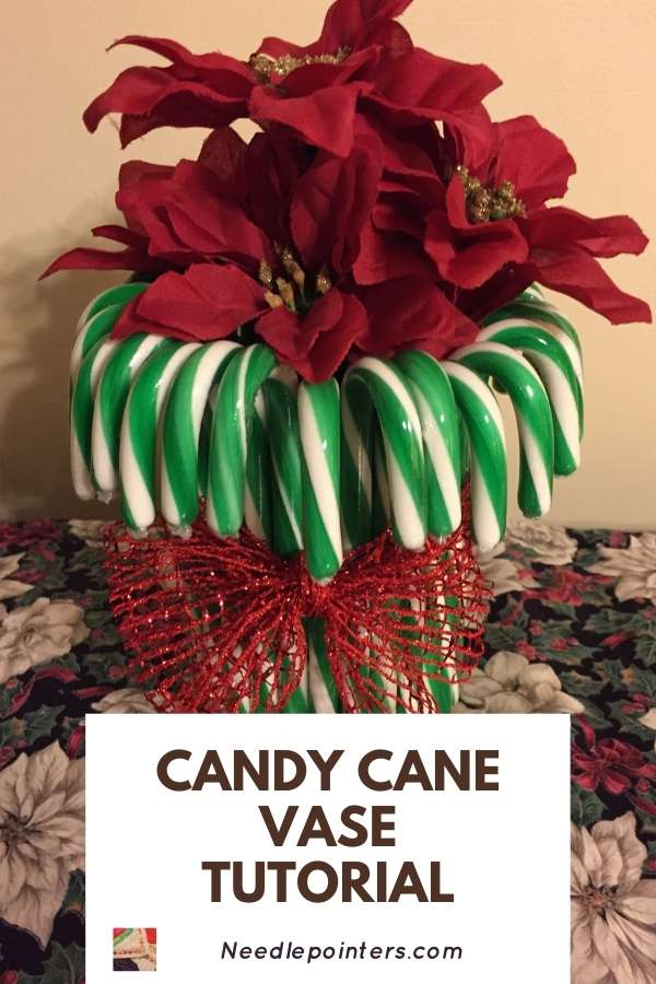 Candy Cane Vase Tutorial - Pin