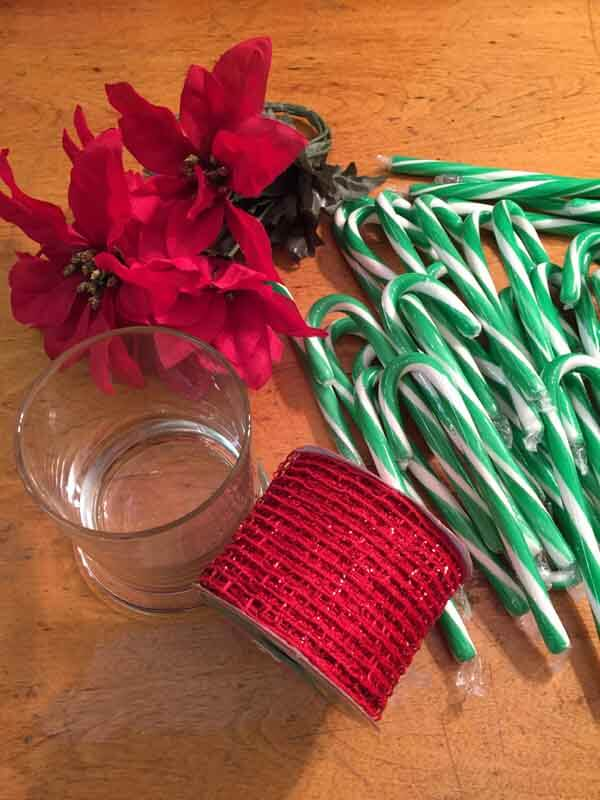 Candy Cane Vase - Supplies