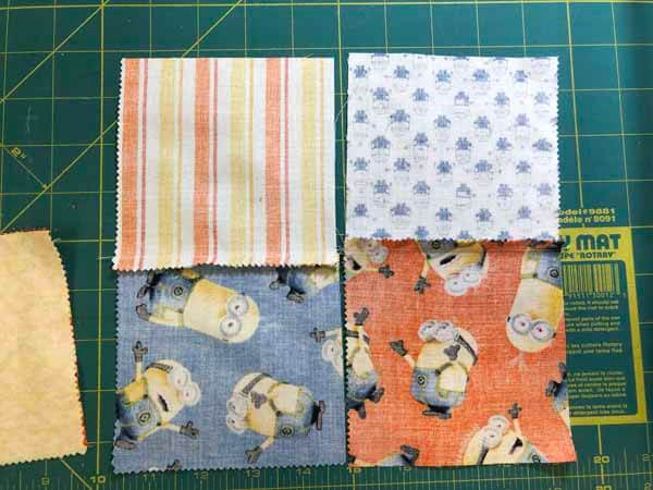 Charm Pack Quilt Pattern - Four Patch Pressed Sections