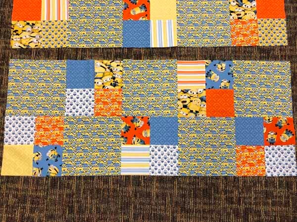 Charm Pack Quilt Pattern - Rows Sewn Together