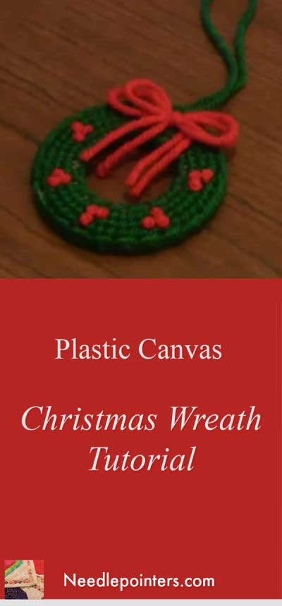 Christmas Wreath Plastic Canvas