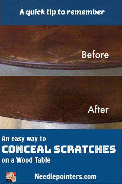 An Easy Way to Conceal Scratches on Furniture - pin