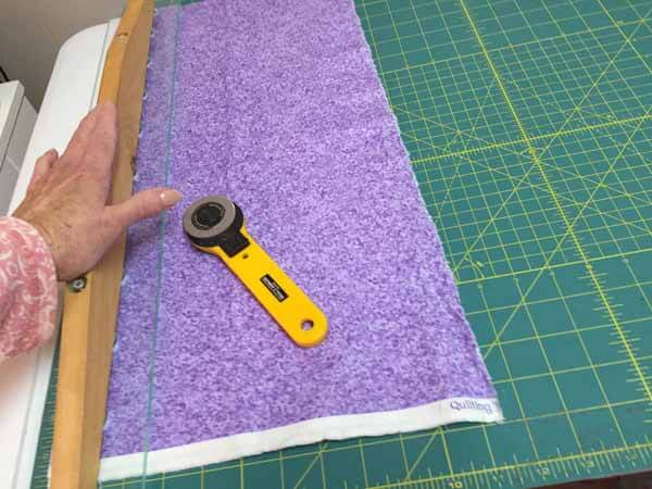 Join Binding Strips - Cut Fabric