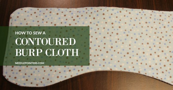 How to sew a contoured burp cloth