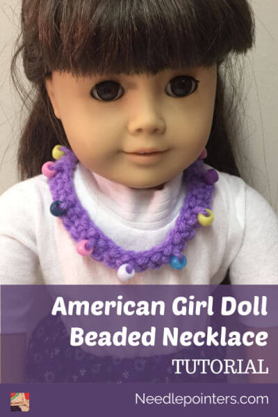 Doll Crocheted Beaded Necklace Tutorial - Pin