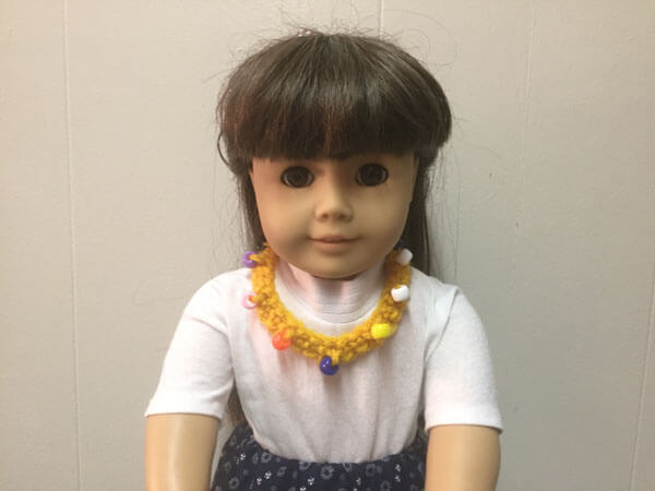 Doll Crocheted Beaded Necklace Tutorial - On Doll