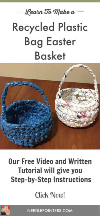 Recycled Plastic Bag Easter Baskets - Pin
