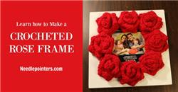 Crocheted Rose Frame