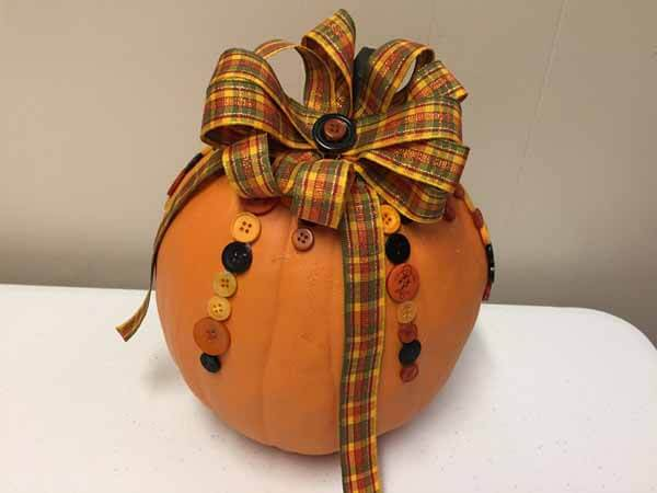 Cute as a Button Pumpkin - Add Bow