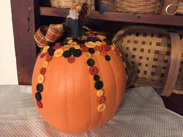 Cute as a Button Pumpkin Tutorial