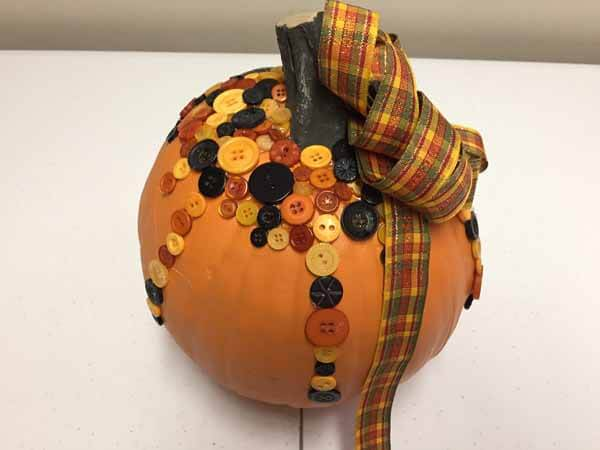 Cute as a Button Pumpkin - Complete