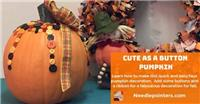 Cute As A Button Pumpkin