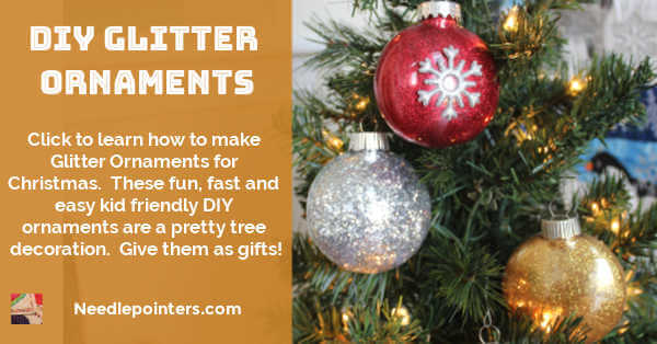 Glitter Ornaments DIY - facebook