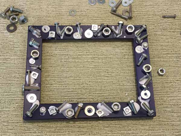 Dad Nuts and Bolts Picture Frame - Glued