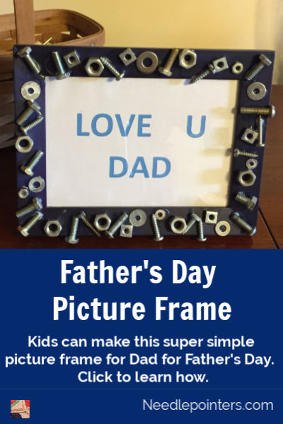 Father's Day Nuts and Bolts Picture Frame - pin