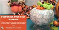 Decoupage Pumpkin with Book Pages