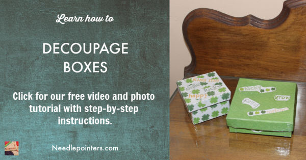 Decoupage Boxes with Scrapbook Paper Tutorial