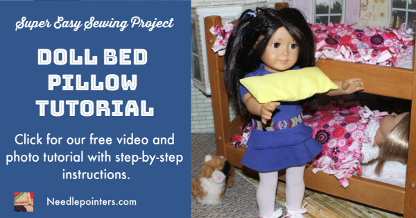 Doll Bed Pillow Tutorial - Facebook Ad
