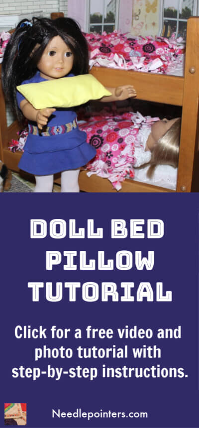 Doll Bed Pillow Tutorial - Pin