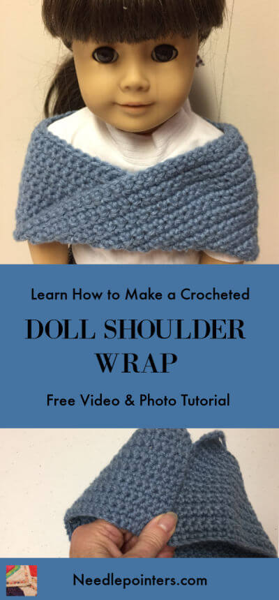 Doll Crocheted Shoulder Wrap - Pin