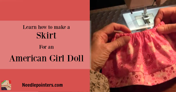 How to make a skirt for your American Girl Doll - Facebook ad