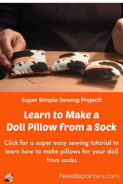Doll Pillow from a Sock Tutorial - pin