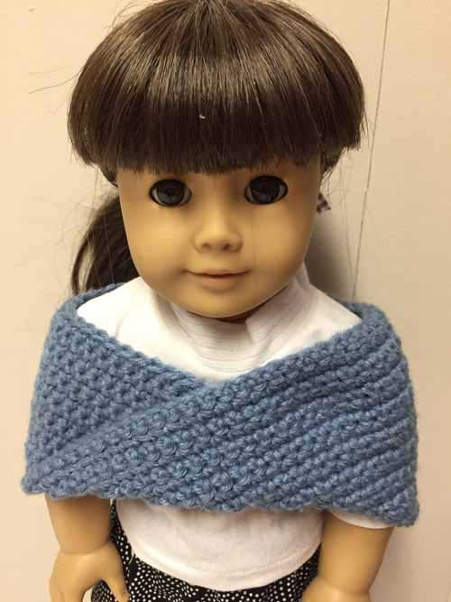 Doll Crocheted Shoulder Wrap