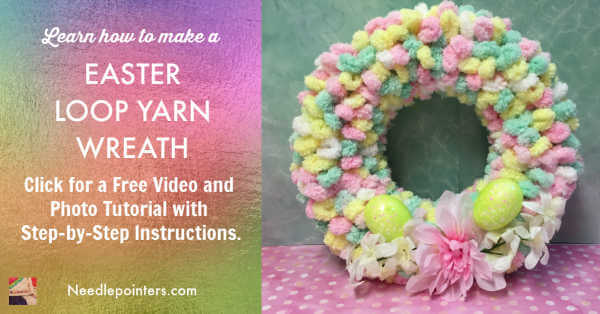 Easter Loop Yarn Wreath Facebook Ad