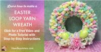 Easter Loop Yarn Wreath