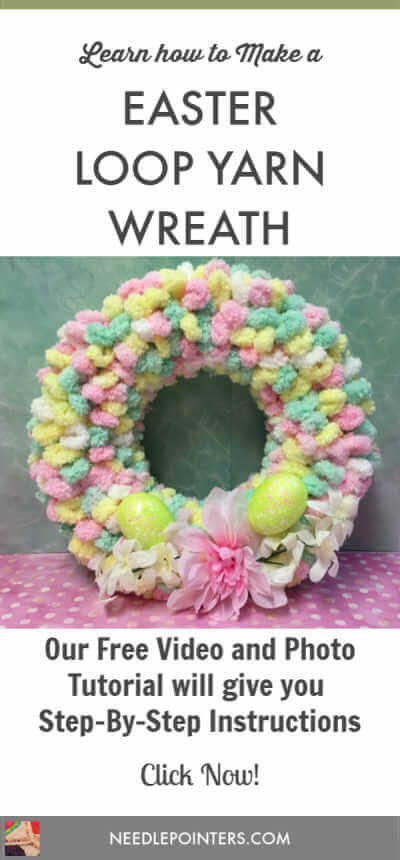 Easter Loop Yarn Wreath Tutorial Pin