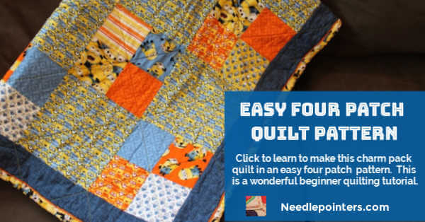 Easy Four Patch Quilt Pattern Tutorial - Fb