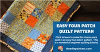 Four Patch Quilt - Easy Charm Pack Quilt Pattern