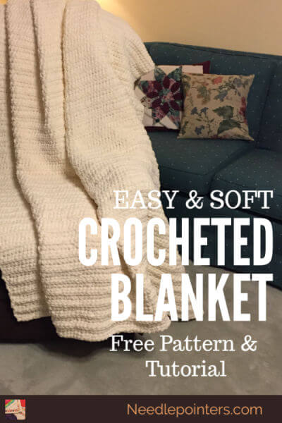 Easy and Soft Crocheted Blanket Tutorial - Pin