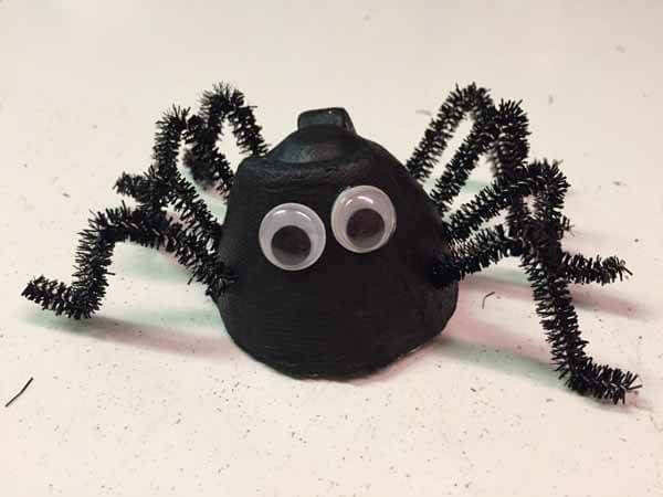 Egg Carton Spiders - single finished