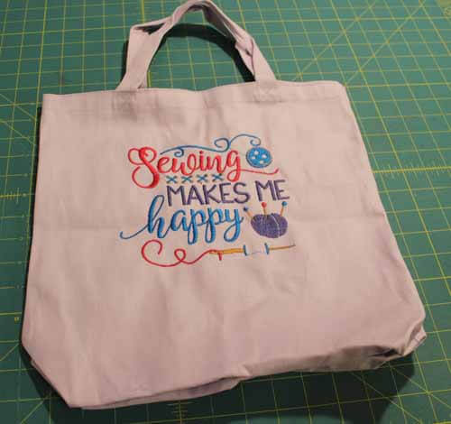 Machine Embroidered Tote Bag