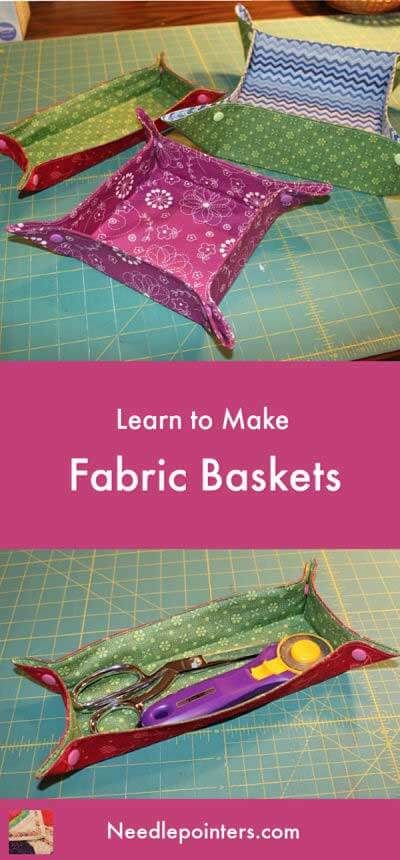 Fabric Basket Tutorial - Pin