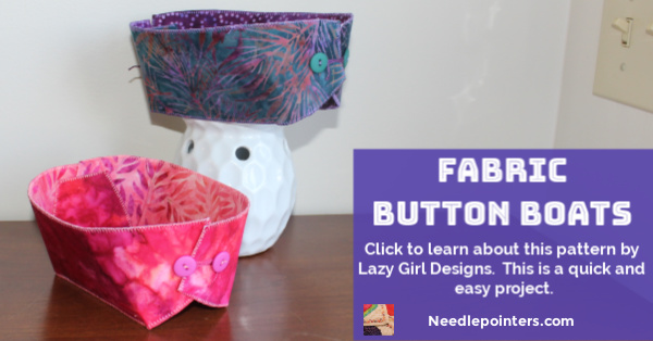 Lazy Girl Designs - Fabric Button Boats - fb