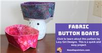 Fabric Button Boat
