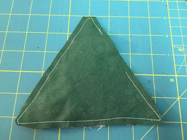 Fabric Christmas Tree Ornament