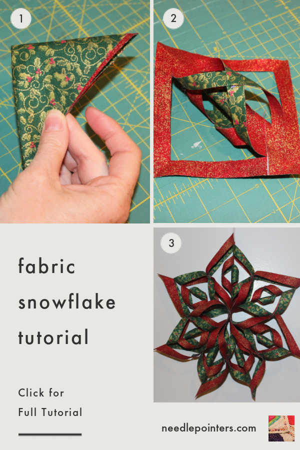 No-Sew Fabric Snowflake Tutorial - pin
