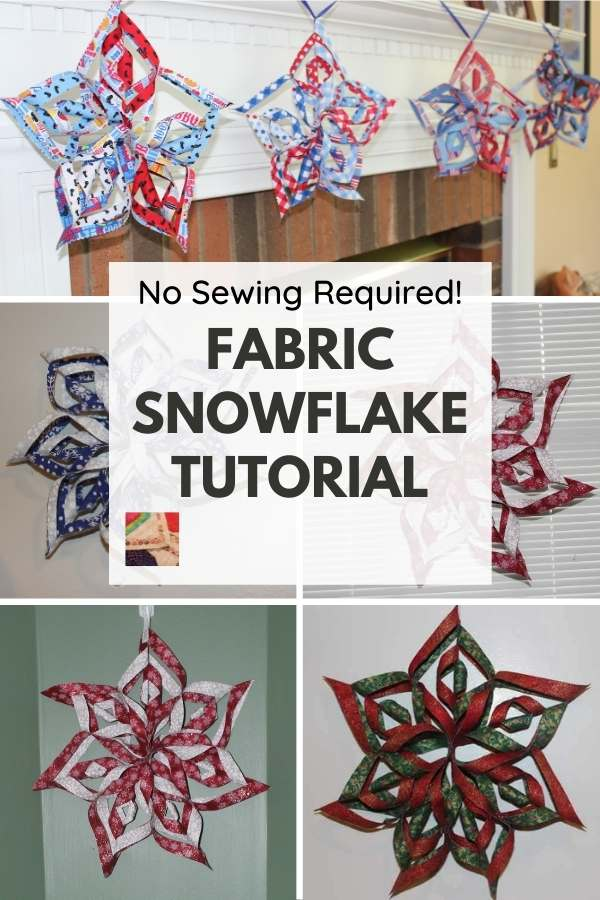 3-D Fabric Snowflake Tutorial - pin