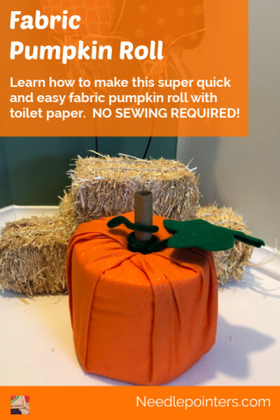 Fabric Toilet Paper Roll Pumpkin - pin
