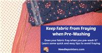 Quilt Fabric - Prewash or No Prewash