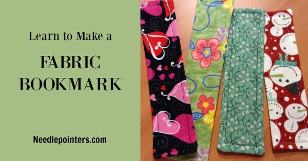 Fabric Bookmark Tutorial - Facebook Pin