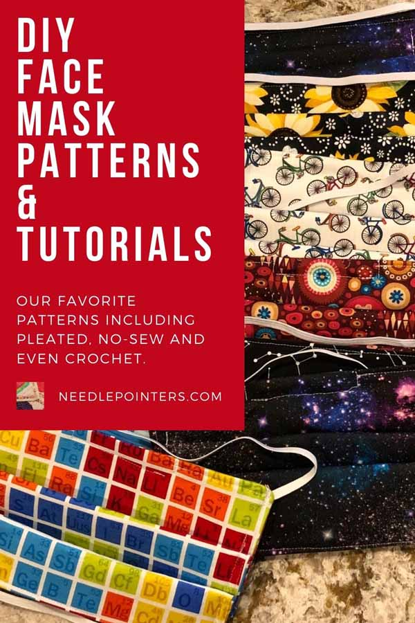 DIY Face Mask Pattern & Tutorials - pin