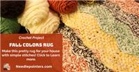 Crocheted Rug - Fall Colors Rug