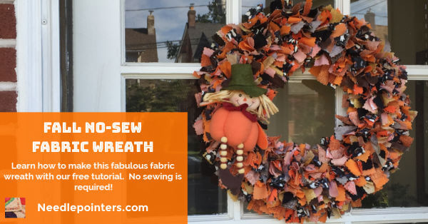 Easy No-Sew Fabric Wreath