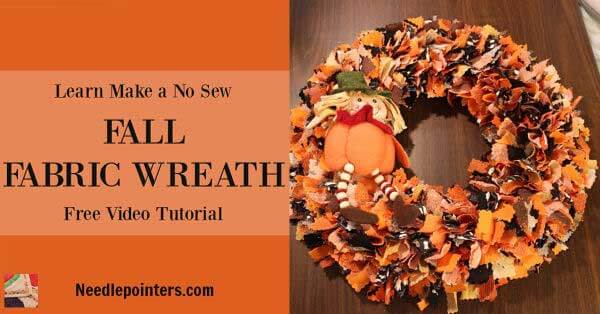 Halloween No Sew Fabric Wreath - Facebook ad