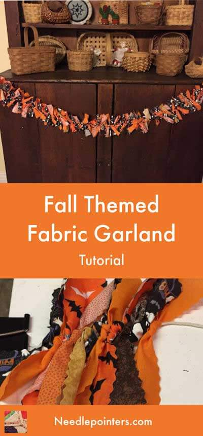 Fall Themed Fabric Garland