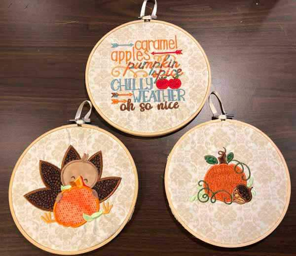 Fall Hooped Machine Embroidery